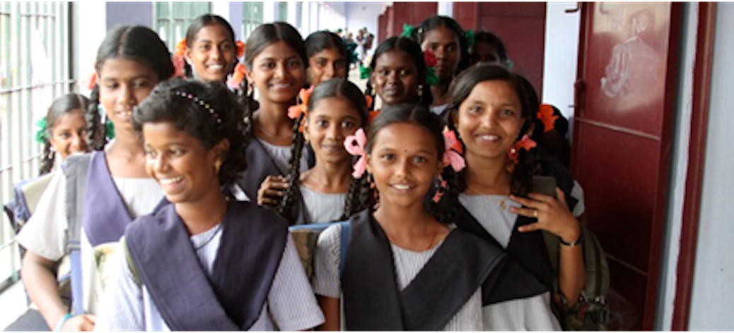 Students in a public school in Tamil Nadu, India (Photo courtesy of Ellen Bruno)