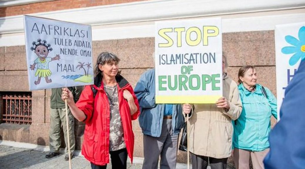 EKRE holds anti mass-immigration rally in Toompea, Estonia (Source: ERR News)
