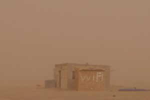 Sandstorm in the Smara refugee camp